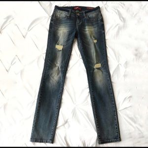 GUESS | Distress straight leg jeans